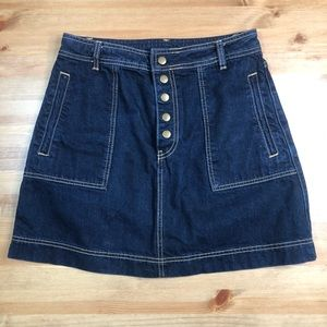 Free People button down jean skirt 28